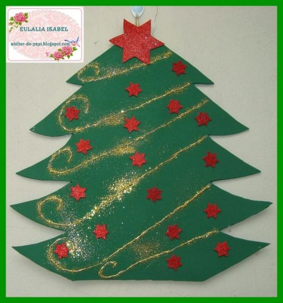 Árbol de Navidad en foami para pared: Tree, I Must Try, Adornos Navidad Diy, Christmas, Navidad Christmas, Christmas, Navidad Sunbonnet, Crafts