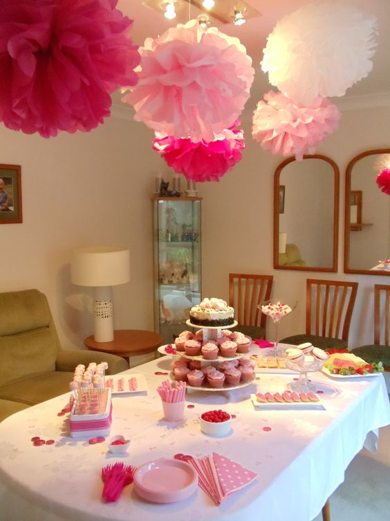 Baby Girl Shower Table Setting Baby Shower Ideas