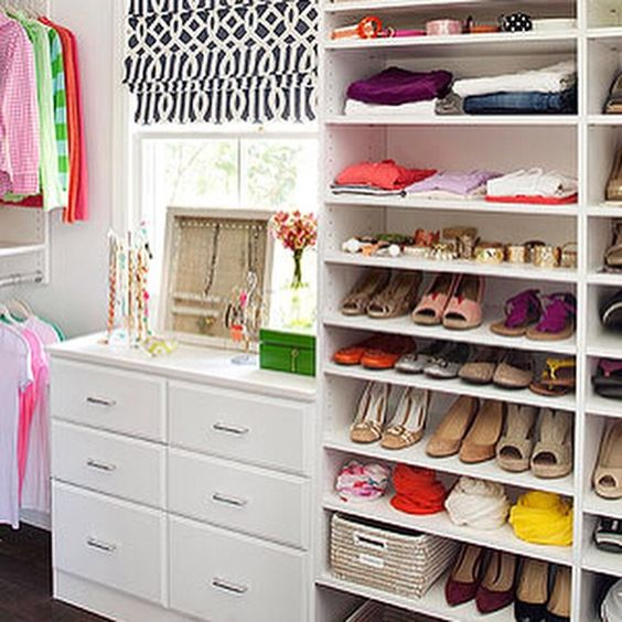 Bookshelves for Shoe Storage #bookshelves #shoestorage