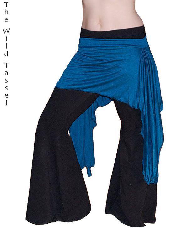 Belly Dance Hipskirt Teal Knit Overskirt  Tribal by TheWildTassel, $30.00