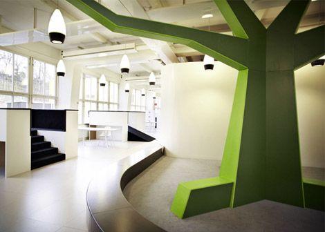interior design tree - House interior design, House interiors and Library design on Pinterest