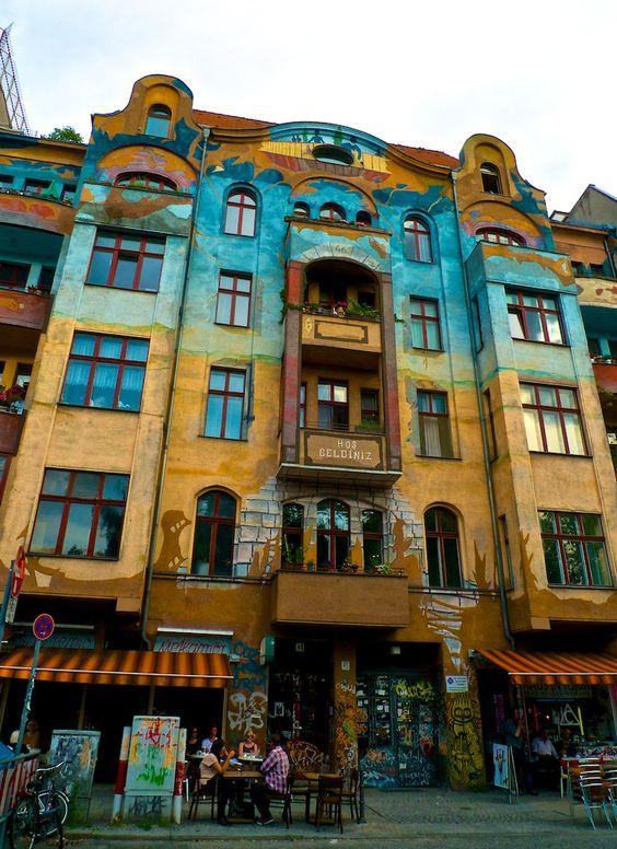 Find the most beautifully, colorful buildings in Kreuzberg, Berlin. Kreuzberg's…: