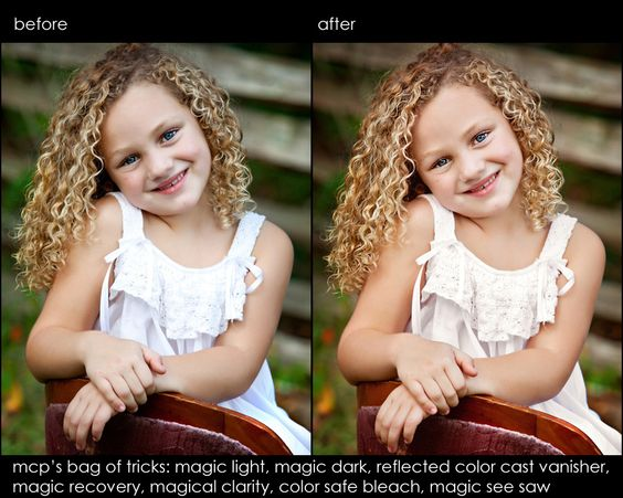 Photoshop Elements actions for Retouching