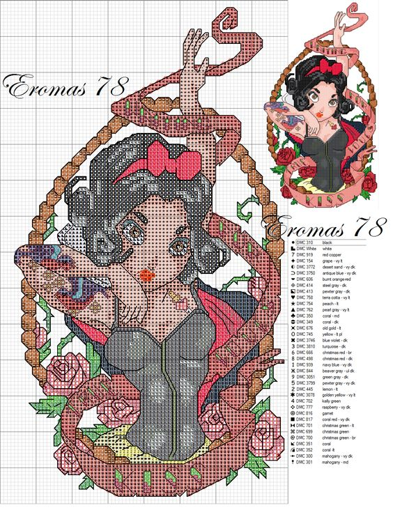 Cross Stitch Patterns Stitch Patterns And Disney Princess