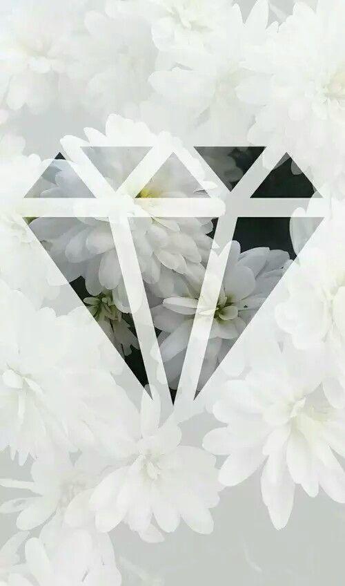 Diamond Flower Iphone Wallpaper