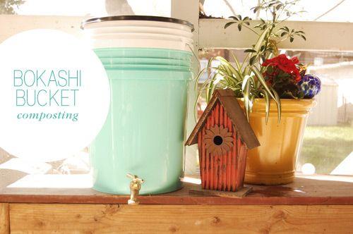 Diy bokashi bucketcomposting. Make your own non-ugly, bargain bokashi bucket.