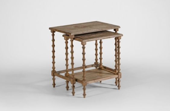 Lionel Oak Nesting Tables - Gabby, 24x16 (larger), $360 + shipping