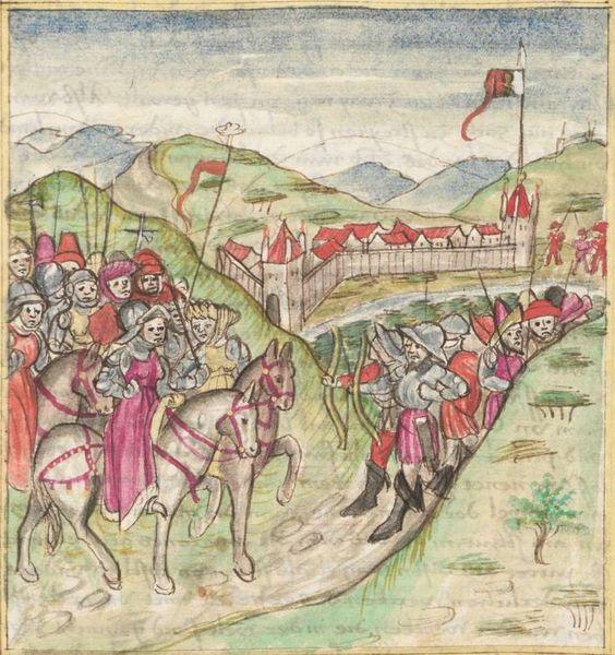 Meisterlin, Sigismundus / Mülich, Hektor: Augsburger Chronik -  SuStB Augsburg 2 Cod H 1 - 1457 -  Folio 55