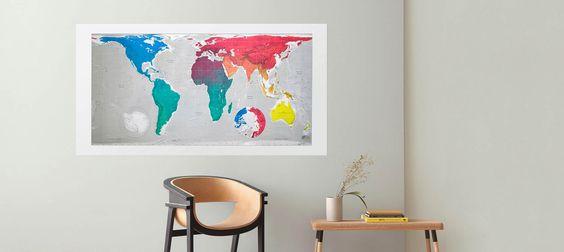 Wandkunst für Karten-Enthusiasten