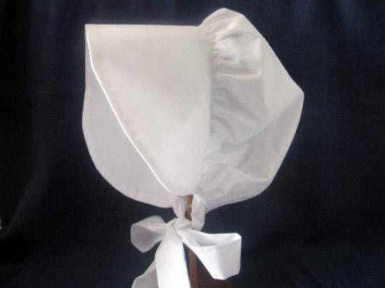 Prairie Bonnet White 100/% Cotton-Adult