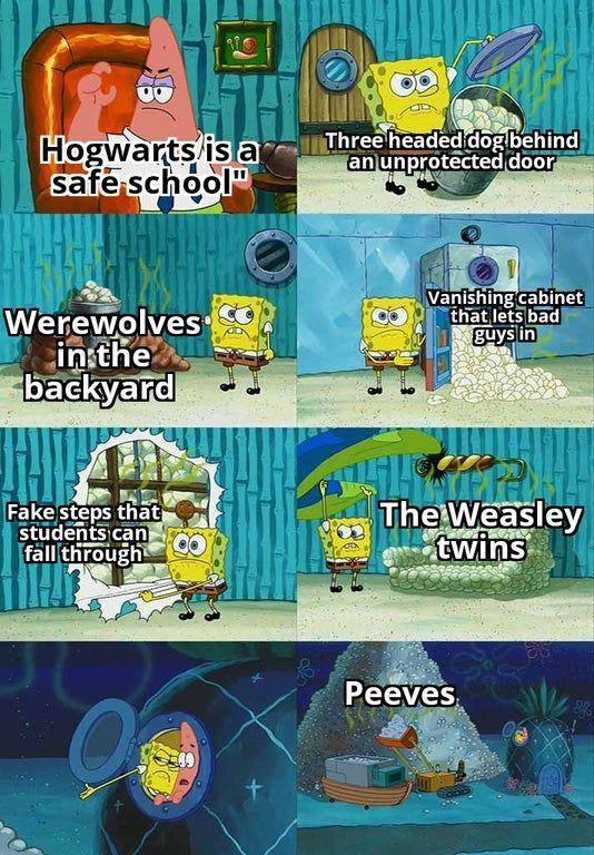 Hogwarts Is Safe Harrypotter Hogwarts Mystery Hogwarts Harry Potter Funny