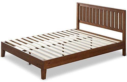 Amazon Com Zinus 12 Inch Deluxe Solid Wood Platform Bed With