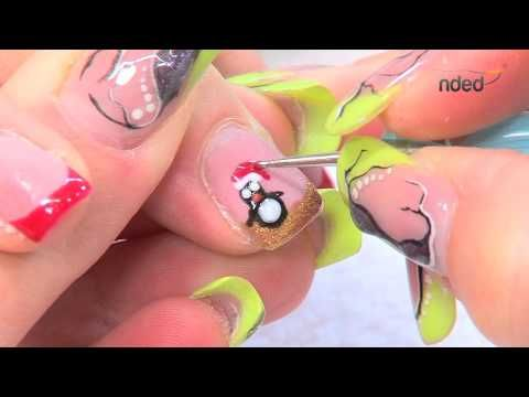 Nail Art & Nail Design Instruction for Easter/Spring | nded.com - YouTube