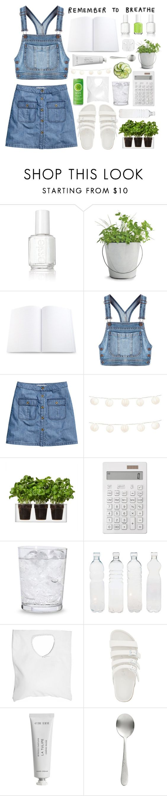 """Breath in denim"" by tomorrow-xoxo ❤ liked on Polyvore featuring Essie, Potting Shed Creations, Moschino, H&M, LumaBase, Boskke, Muji, Schott Zwiesel, Seletti and Jennifer Haley"