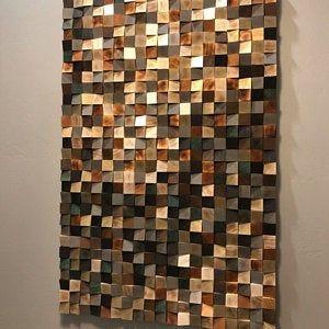 Wood Wall Art Winter Is Coming Reclaimed Wood Art 3 D Wall Art Decor Wood Mosaic Wood Sculpture Abstract Painting Geometric Wall Art In 2020 Wood Art Wood Wall Art Reclaimed Wood Art