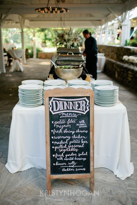 Barbecue Buffet Reception Dinner with Chalkboard Menu … | Pinteres…