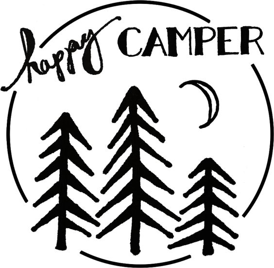 Happy Camper Stencil for freezer paper
