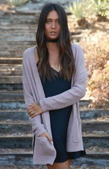 Slouchy Pocket Open Front Cardigan