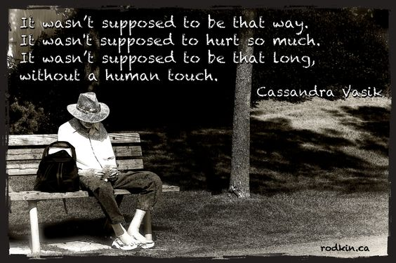https://flic.kr/p/CNZK22 | All alone | Man sits alone on a bench. I took the photo. Words by Canadian singer songwriter, Cassandra Vasik.