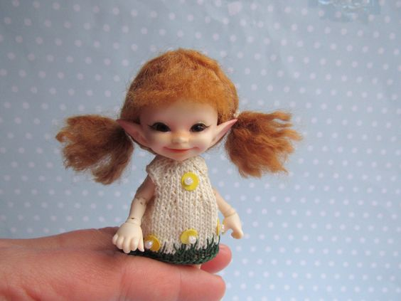 Perücke WIG für REALPUKI real puki mini tiny bjd Puppe doll Fairyland von NiceMiniThings auf Etsy