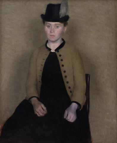 "Vilhelm Hammershøi, ""Portrait of Ida"""