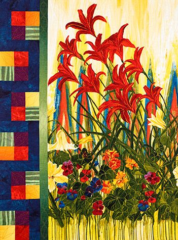 The Day of the Lilly Wall Hanging Kit at pineneedlequiltshop.om