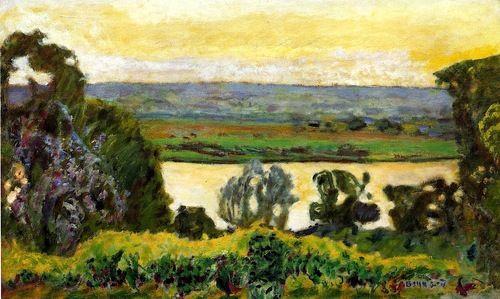 Landscape at Vernon / Pierre Bonnard - 1915