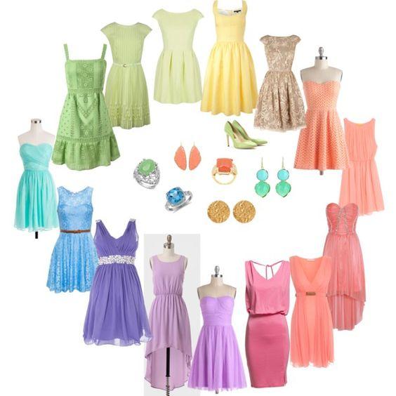"""""""Light Spring - dresses"""" by adriana-cizikova on Polyvore"""