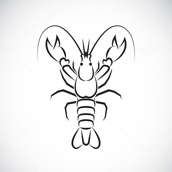 Download Vector image of an lobster design @creativework247