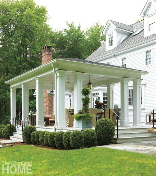 Evolution From Within New England Home Magazine In 2020 Outdoor Covered Patio Patio English Garden Design