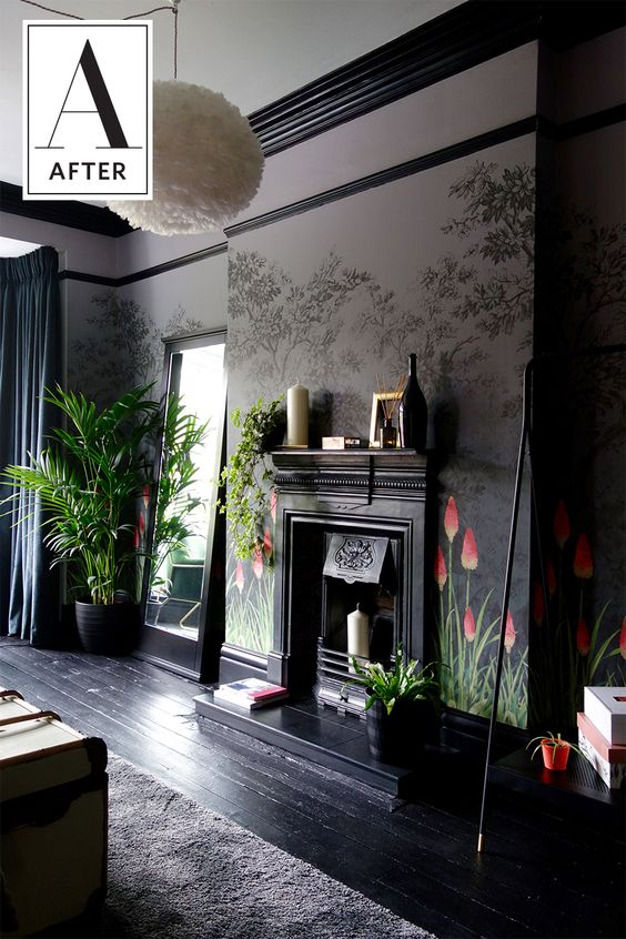 This Guest Bedroom is Like Your Deepest, Darkest Wallpaper Fantasies Come True — Professional Project