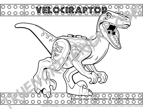 Velociraptor Coloring Page Free For A Limited Time True North Bricks In 2020 Coloring Pages Lego Coloring Pages Animal Stencil