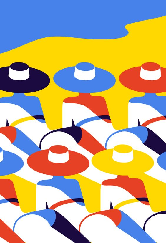 Malika Favre — Cover illustration for the French Riviera issue of SHOP magazine…