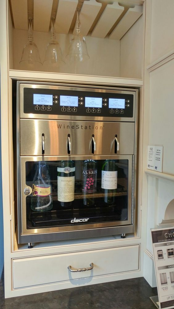 The wine station for bar area