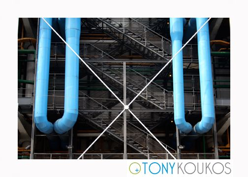 angles, architecture, blue, exterior, functional, landmark, Paris, pipes, pompidou, postmodern, stairs, steel, steps