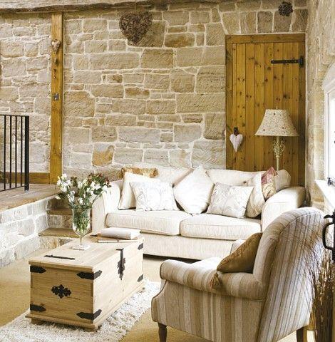 Bois et pierres style campagne chic maison esprit for Style et campagne