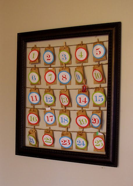 Cute and Easy!!  Doing this for next year with one of my many thrifted frames!!