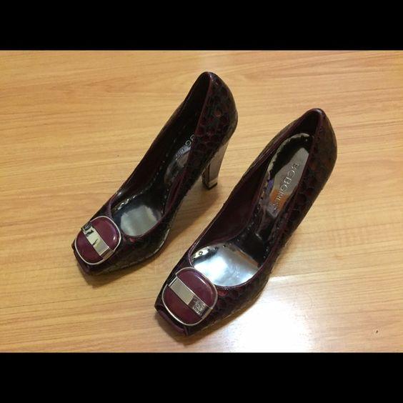 BCBG  Red Sandals Pumps I just got to buy it 3 times BCBG Shoes Heels