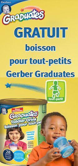 Gratuit – boisson Gerber Graduates.  http://rienquedugratuit.ca/echantillon-gratuit/gratuit-boisson-gerber-graduates/