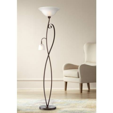 Franklin Iron Works Vinery Torchiere With Reading Light 39r77 Lamps Plus Lamp Target Floor Lamps Torchiere Floor Lamp