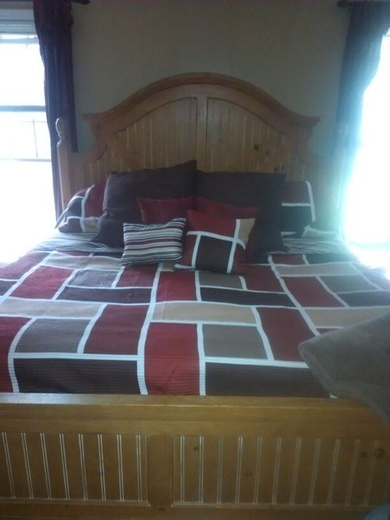 Beautiful bed and bed set