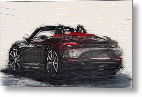 8 Porsche 718 Boxster Drawing Carstoon Concept Metal Print By Carstoon Concept Bring This Artwork To Lif Buy Canvas Prints Online Wall Art Order Canvas Prints