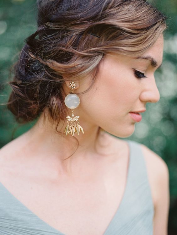 Hip Green California Wedding from Laura Nelson - updo wedding hairstyle