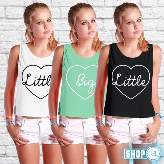 Snag a tee for the latest addition to your family Click the link in our bio to shop the entire TSL Big/Little collection #BigLittle #TheSocialLife #GreekLife