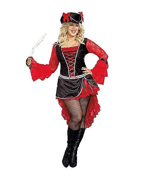 Treasure Pleasure Adult Womens Plus Size Costume - Spirithalloween.com