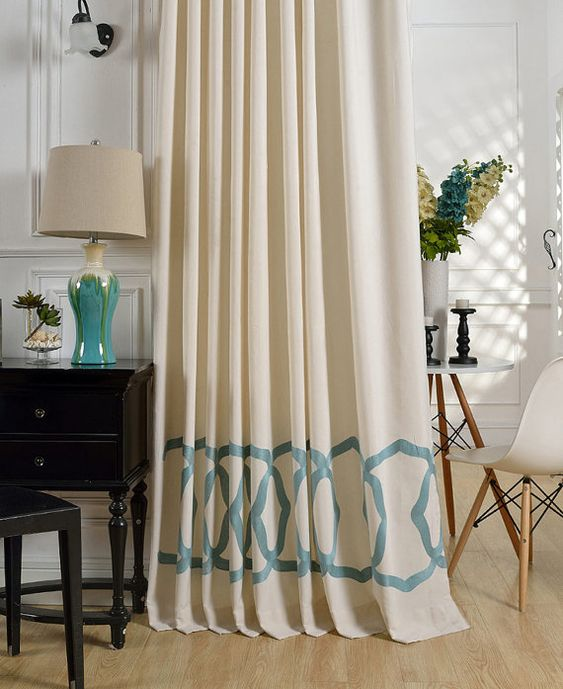 A Pair of Off White Curtains Made to Order Up to 110