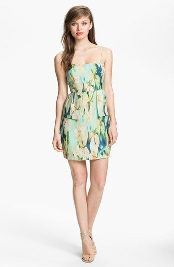 BB Dakota 'Palm Beach' Print Peplum Dress available at #Nordstrom