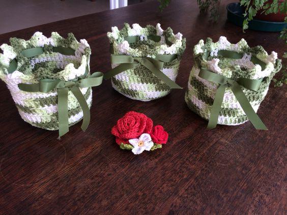 Vasinhos de crochet