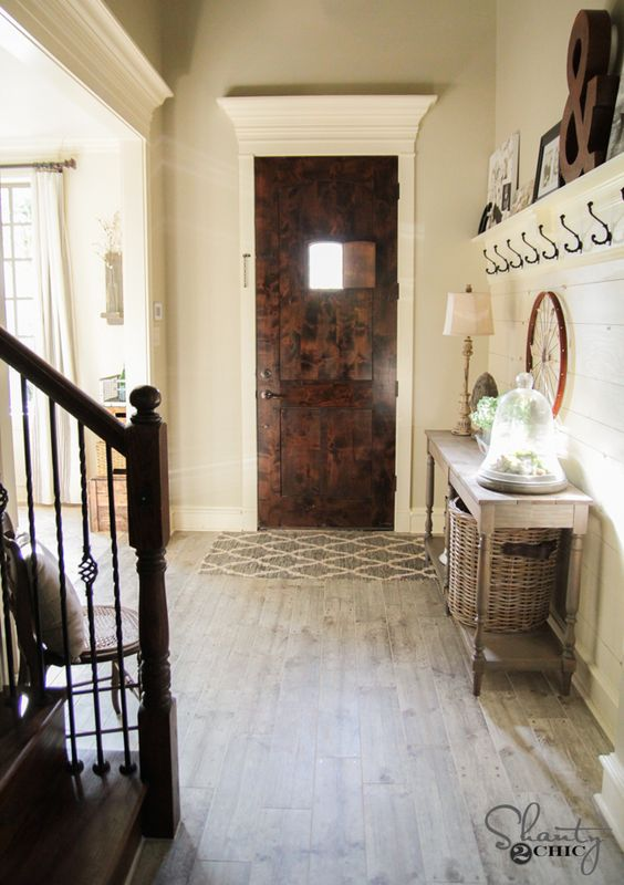 Foyer Wood And Tile : Updating the floors entry ways floor and grey