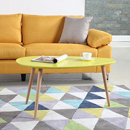 Mid Century Modern Colorful Coffee Table Yellow Divano